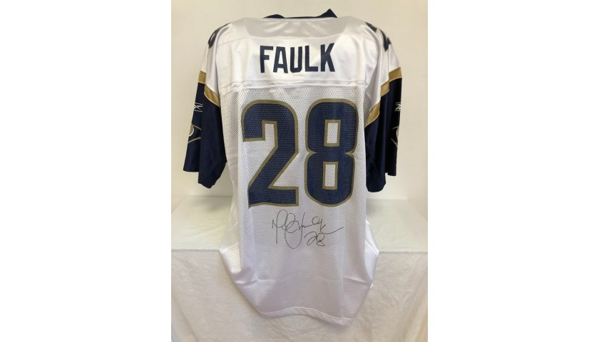 Faulk's Official Los Angeles Rams Signed Jersey, 1999