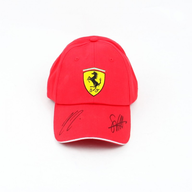 Ferrari Cap, Autographed by Vettel and Räikkönen