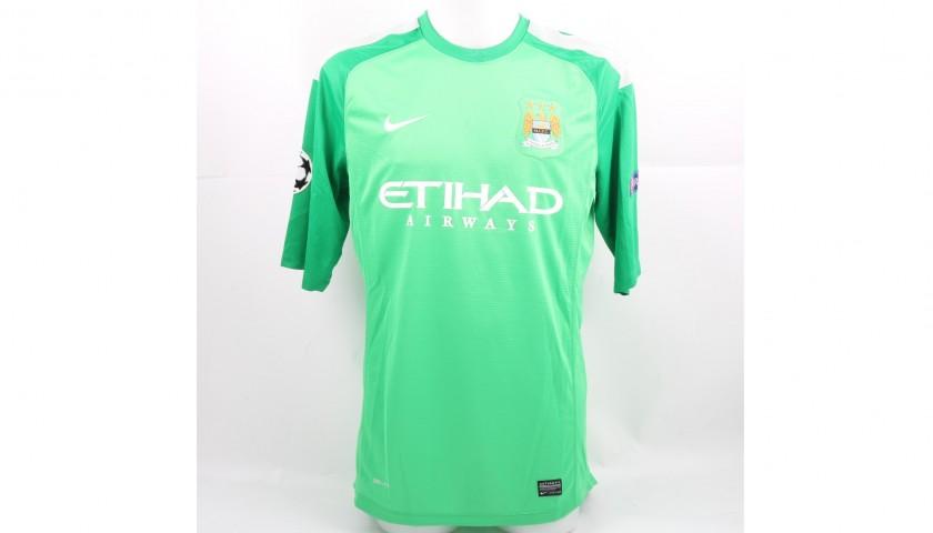 new arrivals b42e1 202a2 Hart's Match-Issued Manchester City-CSKA Shirt, 2013/14 Champions League -  CharityStars