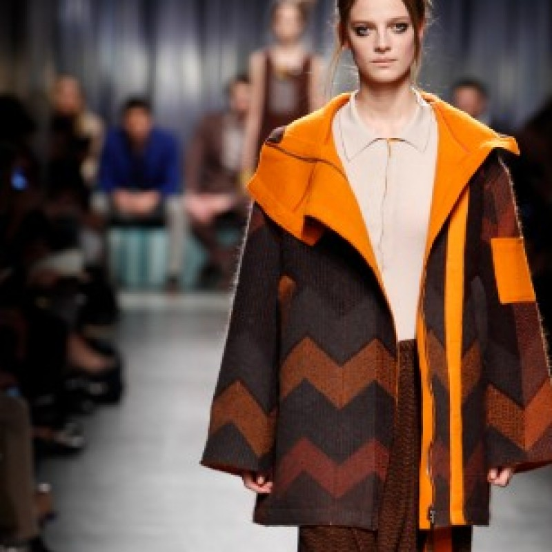 Attend the Missoni runway show during Milan Fashion Week