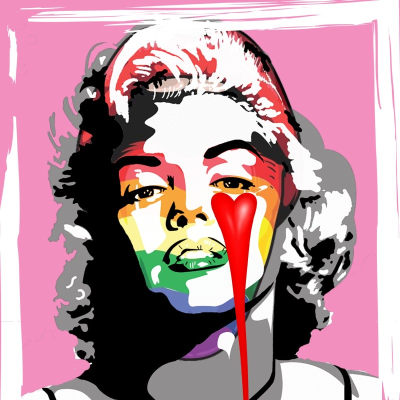 """Red sensuality vs Banksy"" by Mr Ogart"