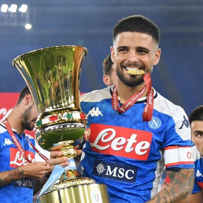 Insigne's Napoli Match-Issued Signed Shirt, Coppa Italia 2020