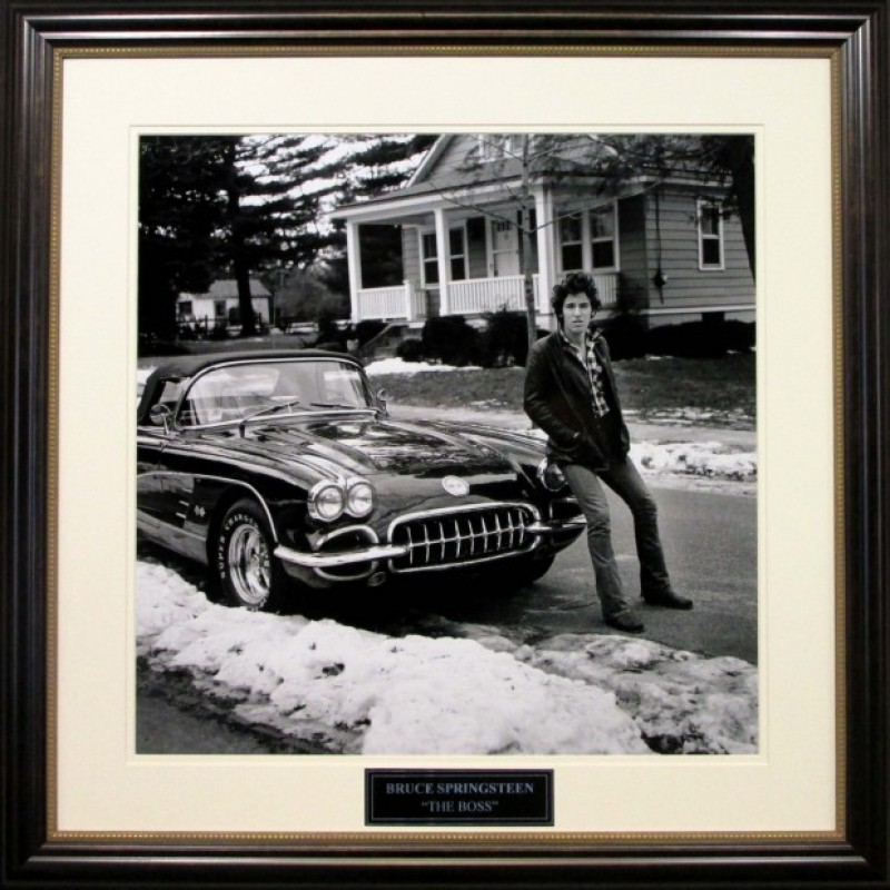 "Bruce Springsteen ""First Corvette"" in New Jersey Vintage Photograph"