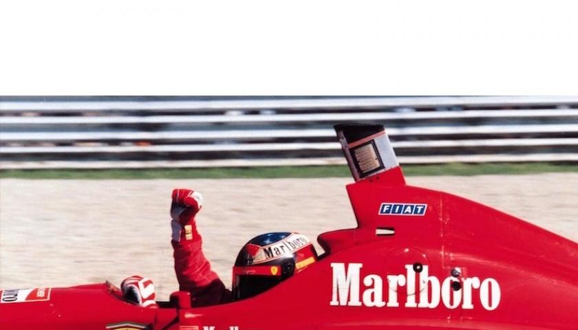 Michael Schumacher Ferrari 1996 OMP Worn Race Gloves