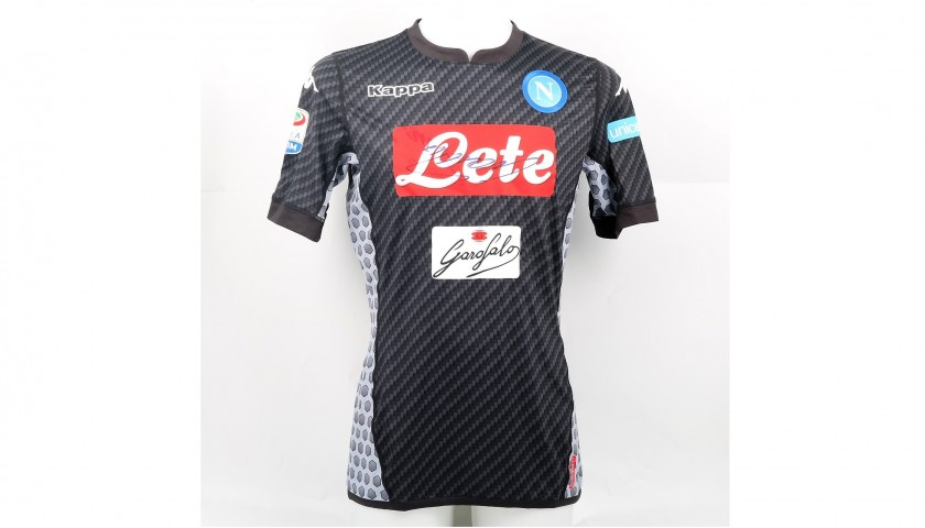 Hamsik's Signed Match-Worn Napoli-Milan Shirt with UNICEF Patch