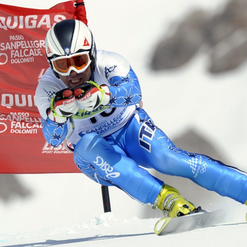 FISI Ski Suit Signed by Kristian Ghedina