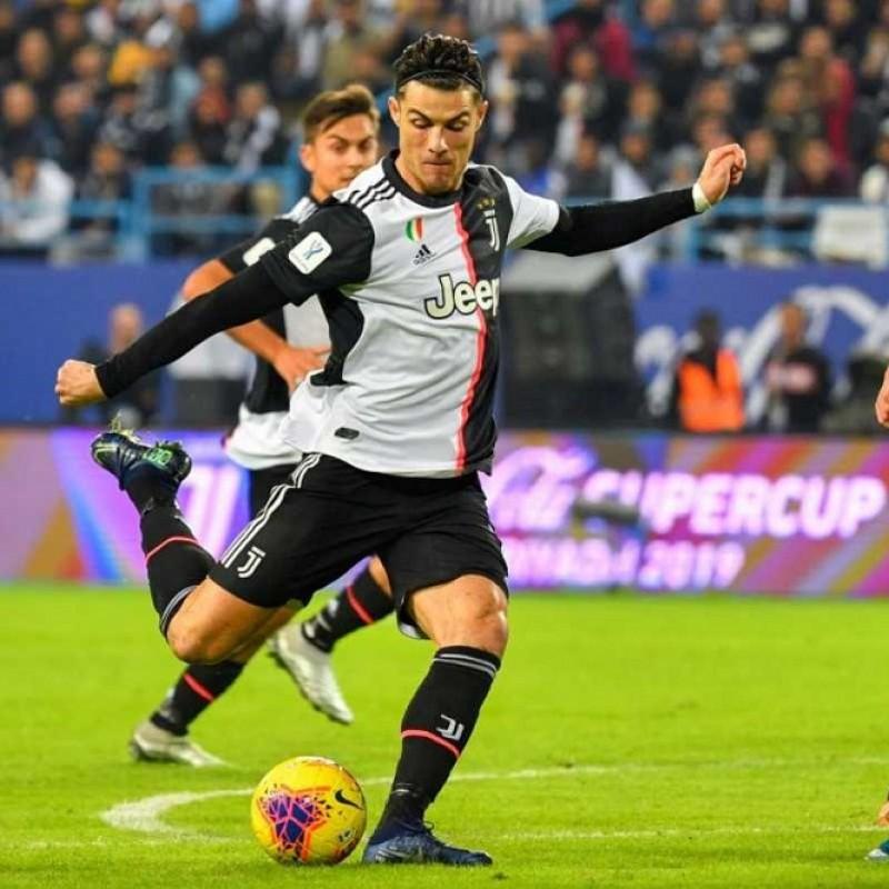 Maglia Gara Ronaldo Juventus, Supercoppa 2019/20 - Autografata dai giocatori