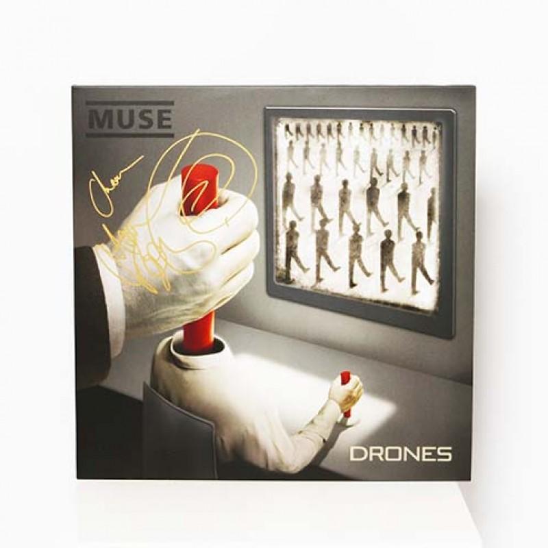 Matt Bellamy Signed Muse 'Drones' Vinyl