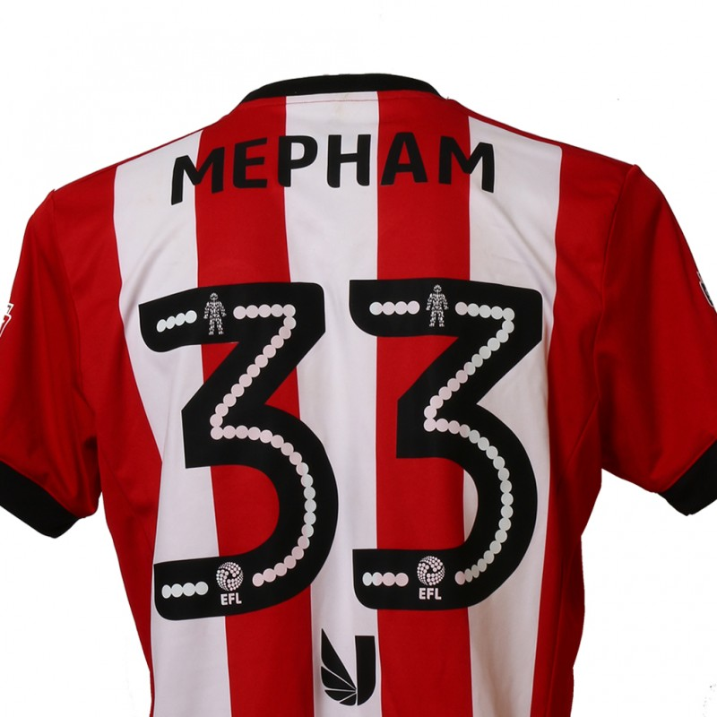 Official Poppy Shirt Signed and Worn by Brentford FC's Chris Mepham