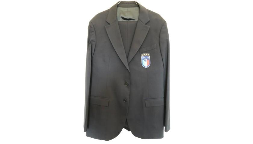Italy National Football Team Suit Worn by Francesco Acerbi