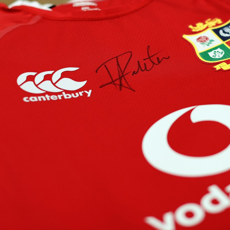 Lions 2021 Test Shirt - Worn and Signed by Taulupe Faletau
