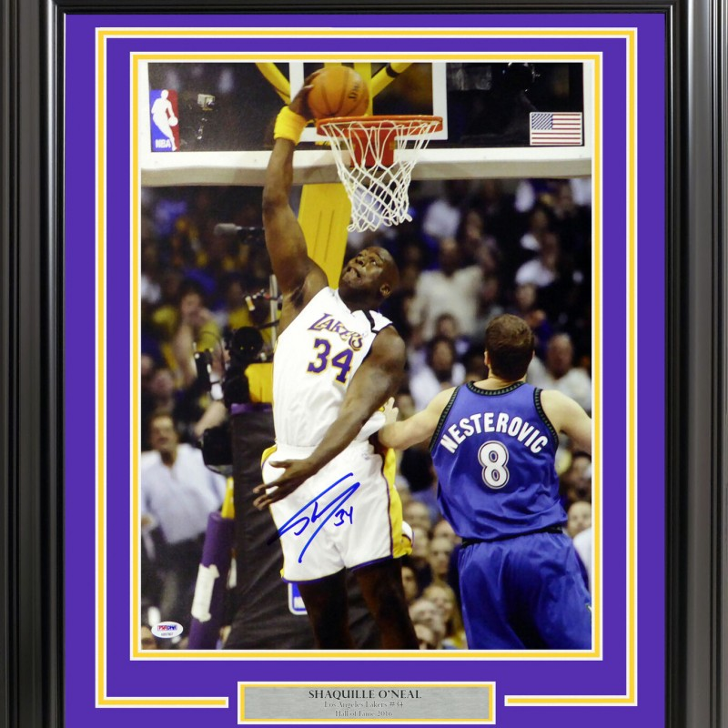 Shaquille O'Neal Signed Framed Photograph