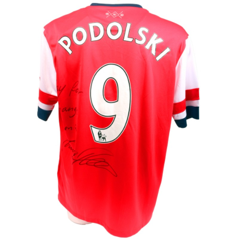 Podolski Signed, Official 2012/2013 Arsenal Shirt