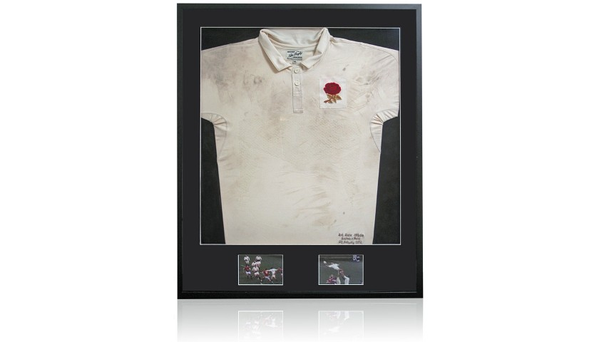 Nick Easter Match Worn England Rugby Shirt
