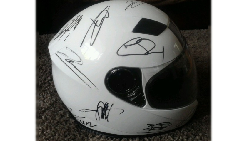 F1 Signed Full Size Helmet By 2014 Grid Drivers at German GP