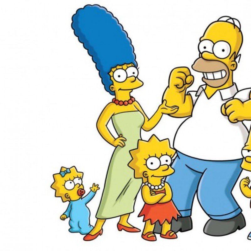 Hand Drawn Production Used Concept Art From the Simpsons Featuring Bart Simpson