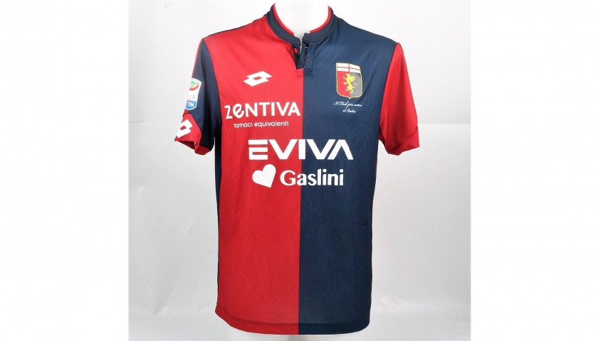 Izzo's UNWASHED Special Genoa-Sampdoria Match-Worn Shirt