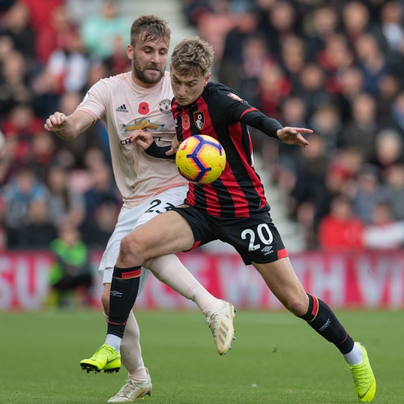 Brooks' AFC Bournemouth Worn and Signed Poppy Shirt