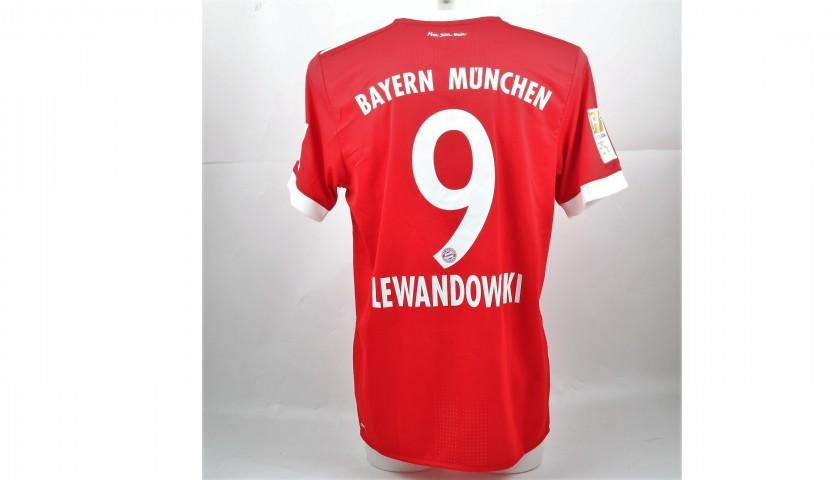 newest d84ce 8669b Lewandowski's Match-Issued/Worn Shirt, Bayern Munich-Freiburg 2017 -  CharityStars