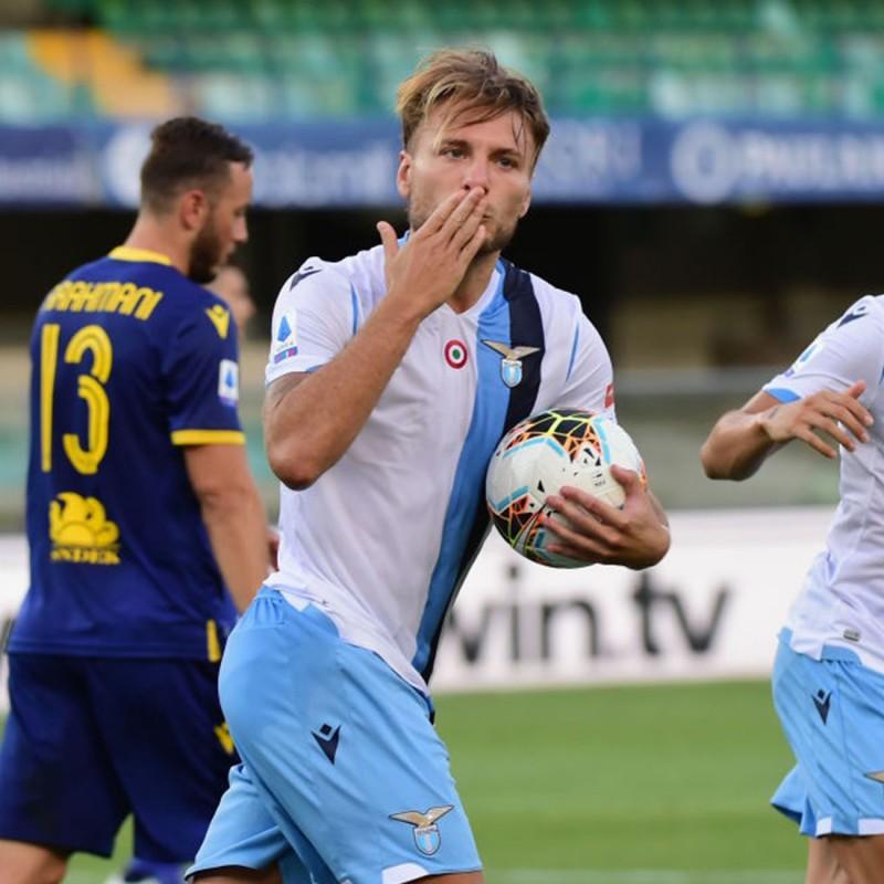 Immobile's Match Shirt, Verona-Lazio 2020