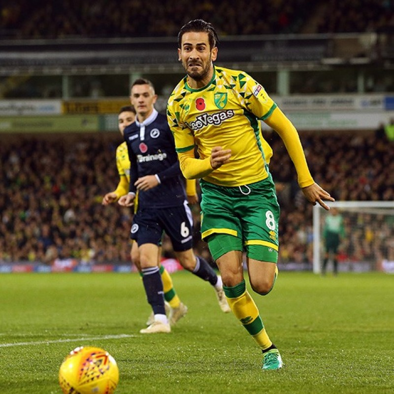 Vrancic's Norwich Poppy Match Shirt - Signed