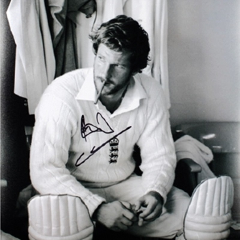 Sir Ian Botham's Iconic Signed England Cricket Photo