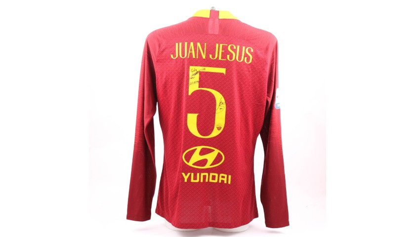 Jesus's Worn and Signed Shirt, Roma-Genoa 2018
