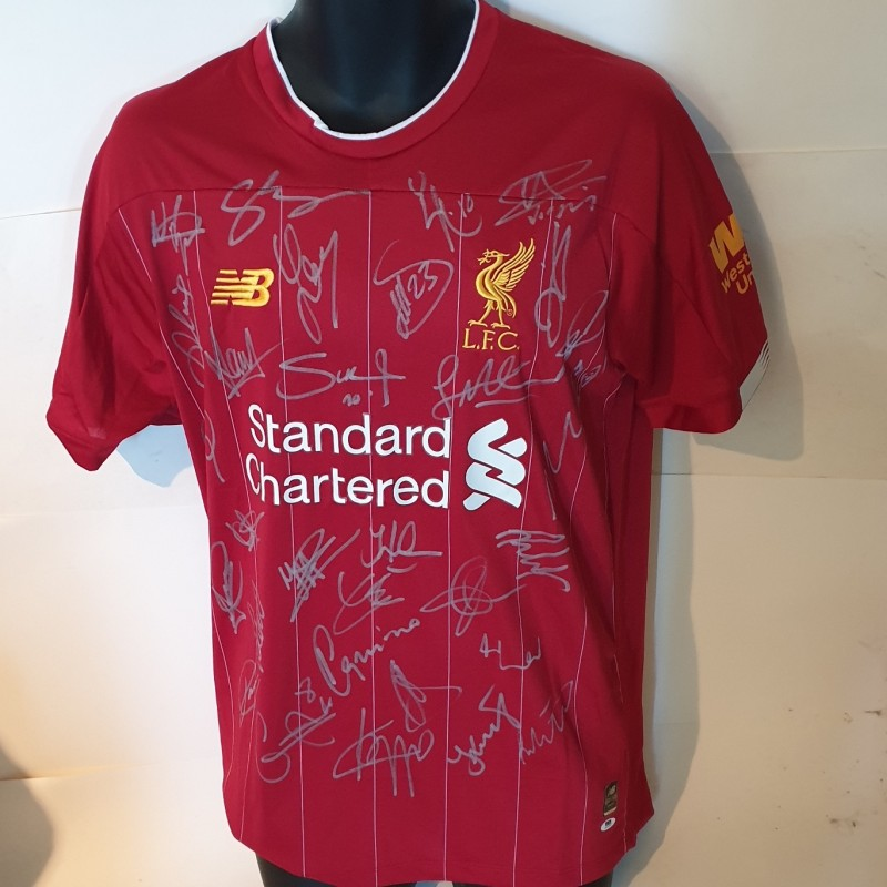 Liverpool Squad Signed Shirt Premiership Champions 2019/20