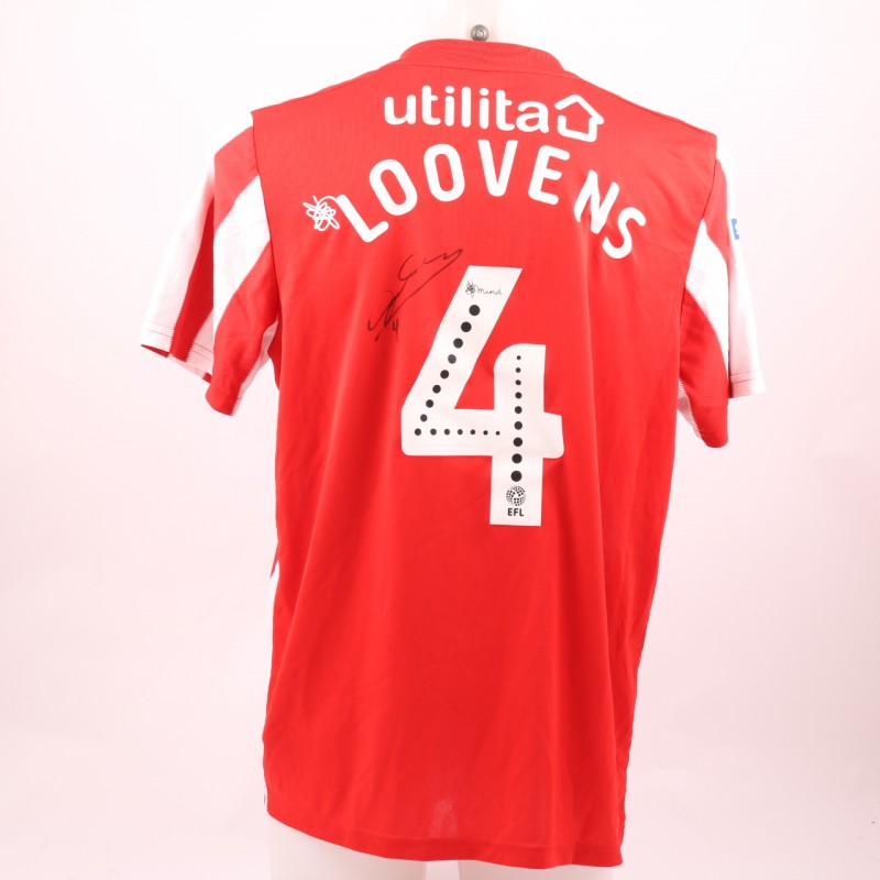 Loovens' Sunderland AFC Worn and Signed Poppy Shirt