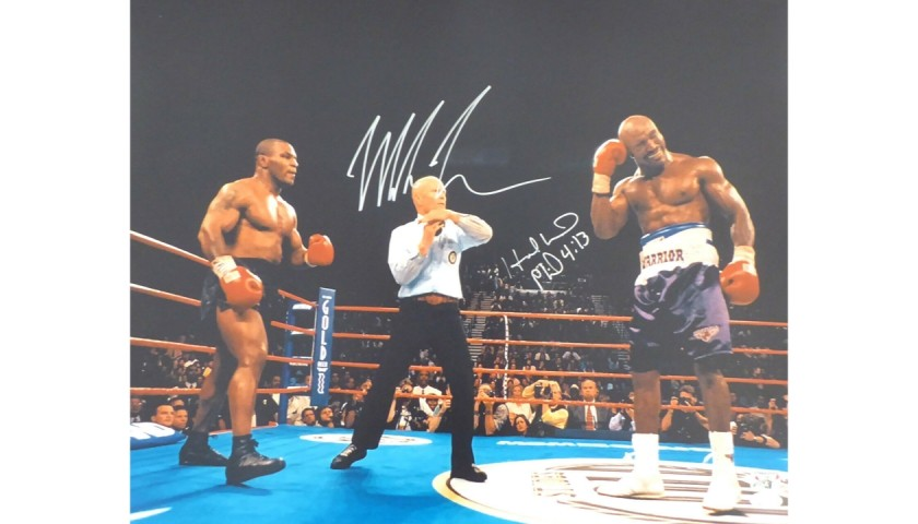 Mike Tyson and Evander Holyfield Signed Photograph