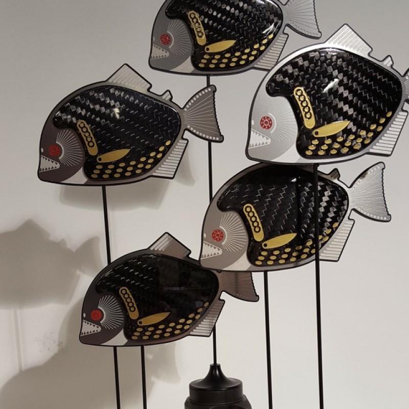 """Rocking Pirahnas"" F1 Sculpture by Alastair Gibson"