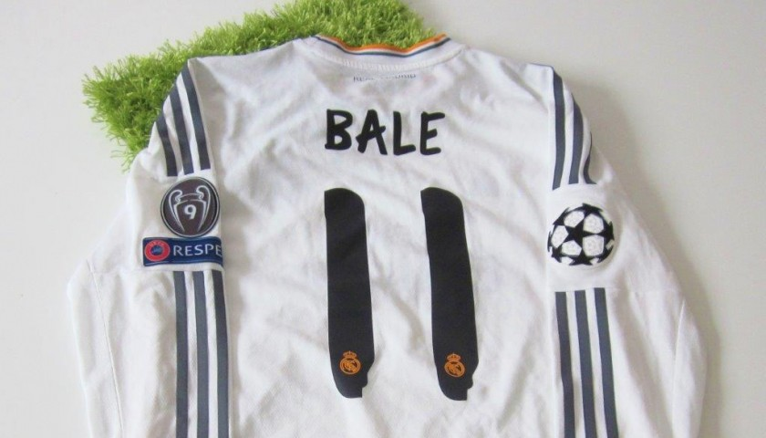 Bale Real Madrid match issued/worn shirt, UEFA Champions League 2014 Final in Lisbon