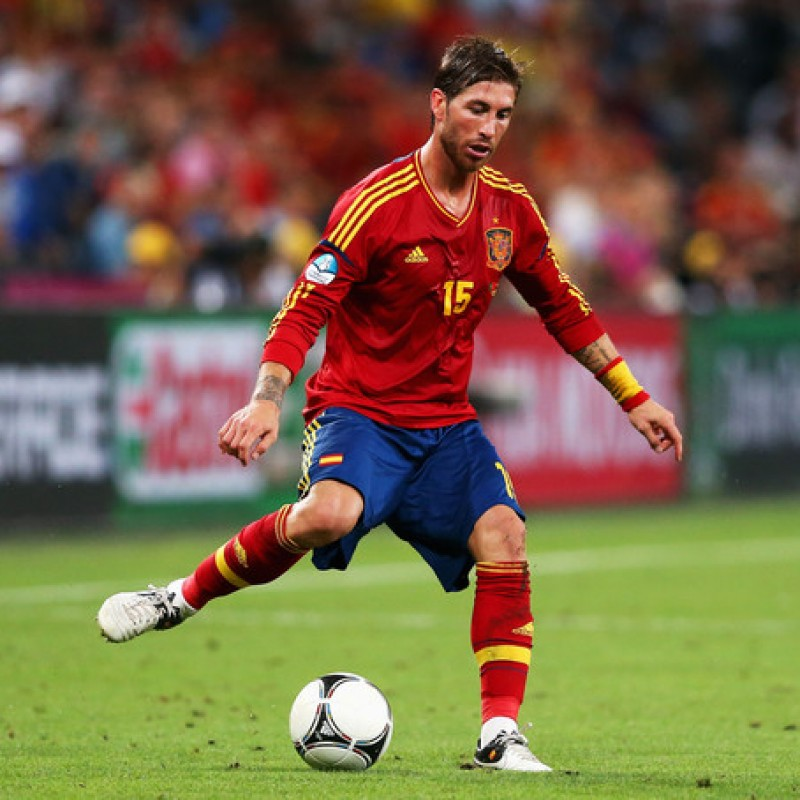 Sergio Ramos' Official Spain Signed Shirt, 2012