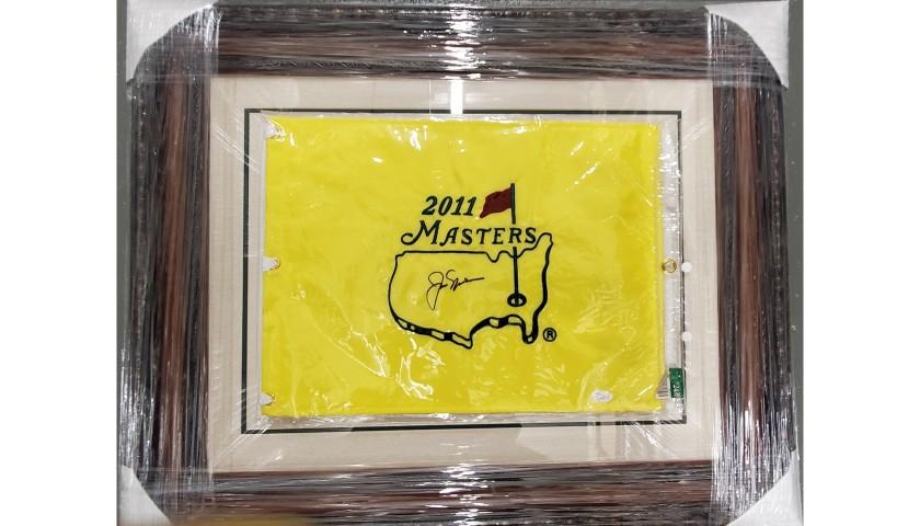 Jack Nicklaus Hand Signed Framed Masters Pin Flag