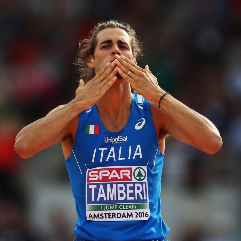 T-Shirt Italia autografata da Gianmarco Tamberi