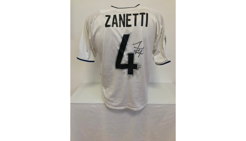 Zanetti's Official Inter Signed Shirt, 2001/02