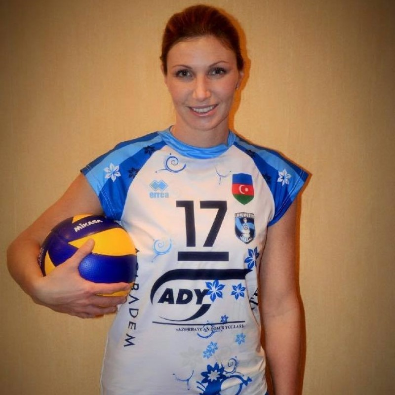 Lokomotiv volley shirt, worn by Valeria Rosso - signed