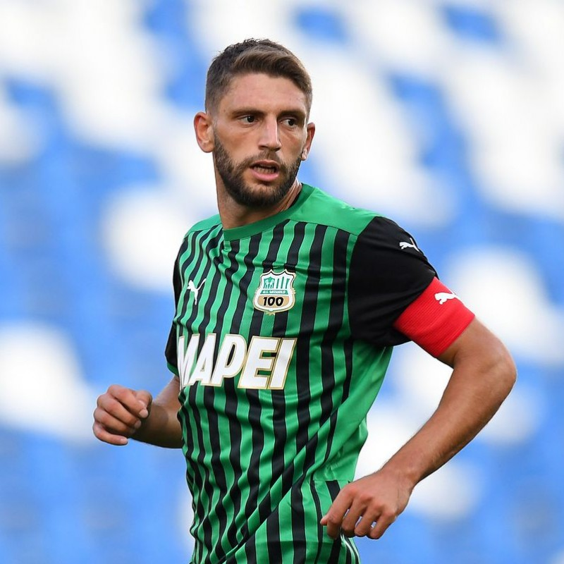 Berardi's Sassuolo Signed Match Shirt, 2020/21