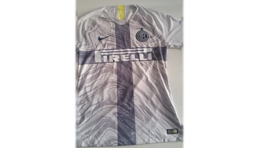 Asamoah's Inter Match-Issue Signed Shirt, 2018/19