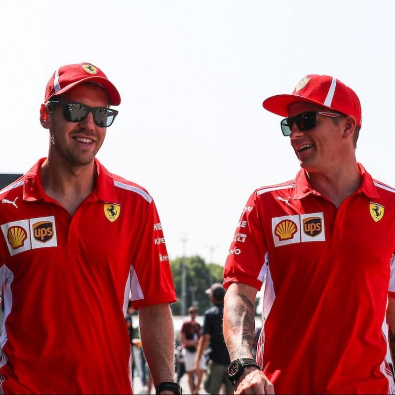 Official Ferrari T-Shirt - Signed by Vettel and Raikkonen