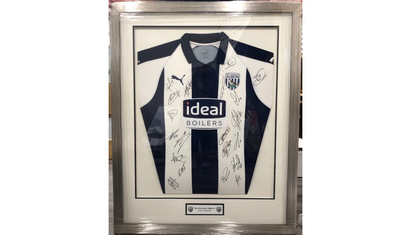 West Bromwich Albion Framed Shirt Signed by the Team + Behind-the-scenes Stadium Tour