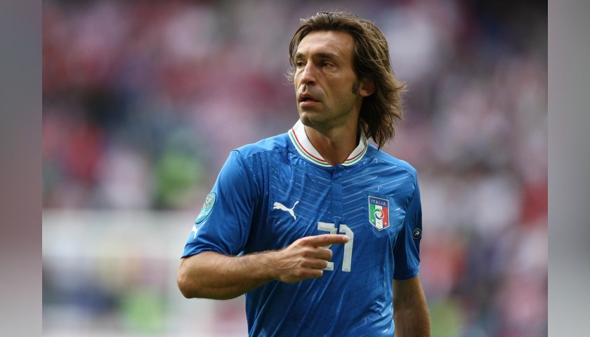 Pirlo's Official Italy Signed Shirt, Euro 2012