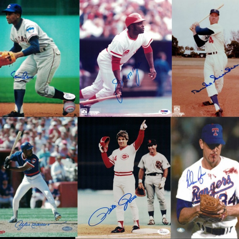 Baseball Legends Mystery Box: Hand Signed Photograph