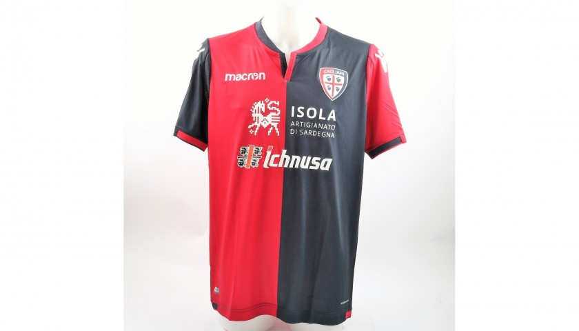 Official Cagliari 2017/18 Shirt, Signed by Barella