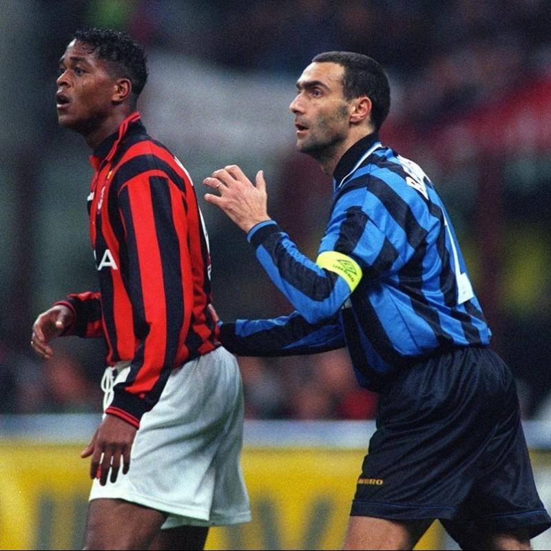 Bergomi's Inter Match-Issue/Worn and Signed Shirt, 1995/96