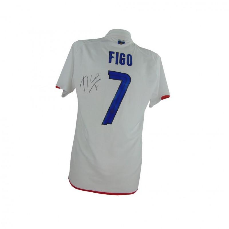 Official Inter Centenary Shirt 2007/2008 Season, Signed by Luis Figo