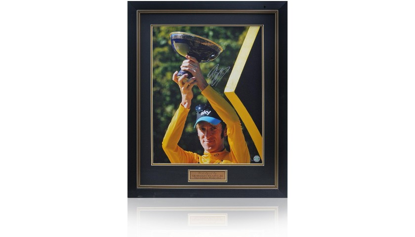 Sir Bradley Wiggins Hand Signed Tour de France 2012 Photograph