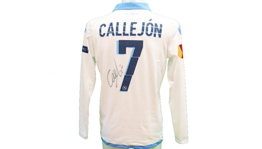 Callejon's Official Napoli Signed Shirt, 2014/15