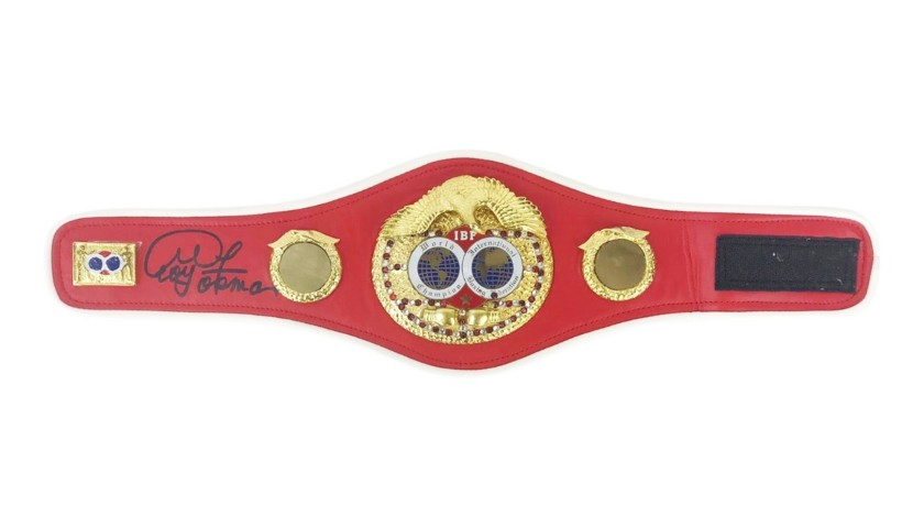 IBF Champion's Belt Signed by George Foreman