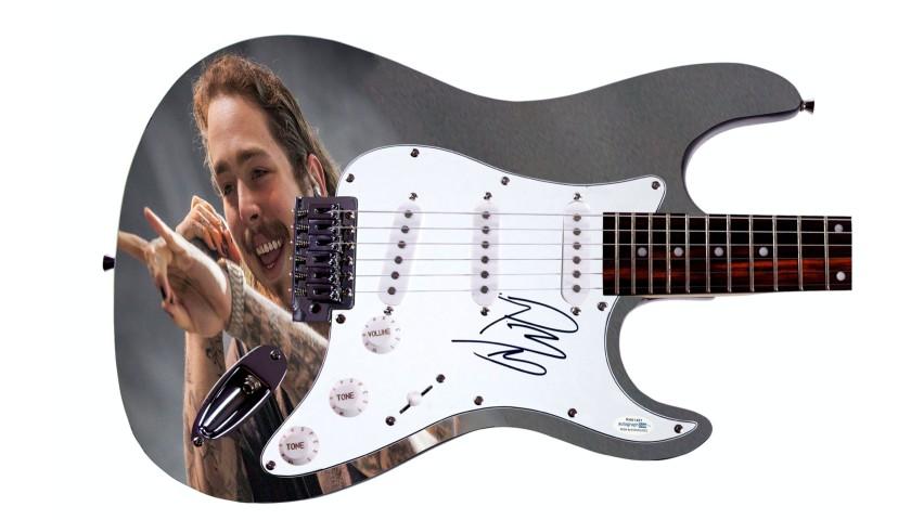 Post Malone Hand Signed Custom Graphics Guitar